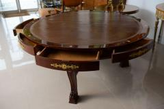 Very Fine French Empire Mahogany and Ormolu Mounted Rent Table Potheau - 391132