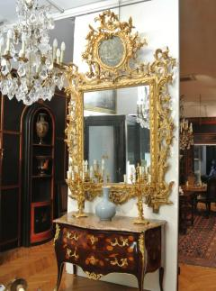 Very Fine Italian 18th Century Carved and Giltwood Mirror - 632690