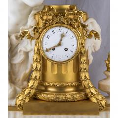 Very Fine Quality French Ormolu and White Marble Winged Cherub Clock - 2034496