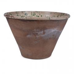 Very Large Colorful Glazed Earthenware Passata Bowl - 1782946