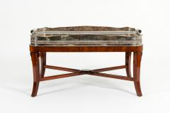 Very Large Plated High Border Tray Table Tortoise Shell Interior - 1170172
