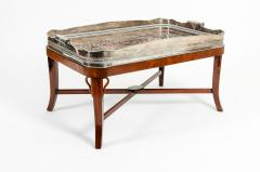 Very Large Plated High Border Tray Table Tortoise Shell Interior - 1170176