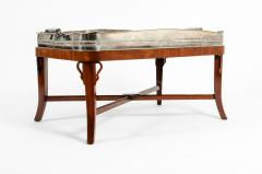 Very Large Plated High Border Tray Table Tortoise Shell Interior - 1170177