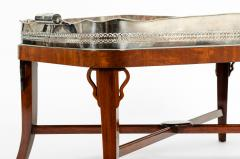 Very Large Plated High Border Tray Table Tortoise Shell Interior - 1170178