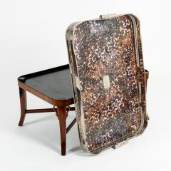 Very Large Plated High Border Tray Table Tortoise Shell Interior - 1170179
