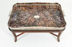 Very Large Plated High Border Tray Table Tortoise Shell Interior - 1170180