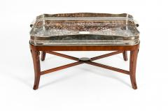Very Large Plated High Border Tray Table Tortoise Shell Interior - 1170181