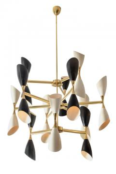 Very Large Rotating Multi Shade Italian Midcentury Style Chandelier - 1016382