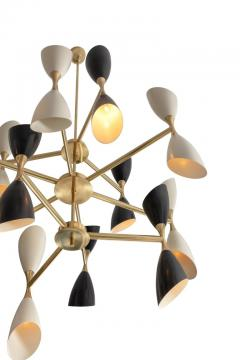 Very Large Rotating Multi Shade Italian Midcentury Style Chandelier - 1016383