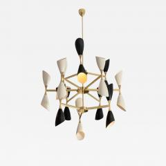 Very Large Rotating Multi Shade Italian Midcentury Style Chandelier - 1017745