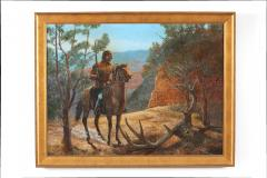 Very Large Wood Framed Oil Canvas Painting - 1347505