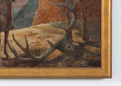 Very Large Wood Framed Oil Canvas Painting - 1347513