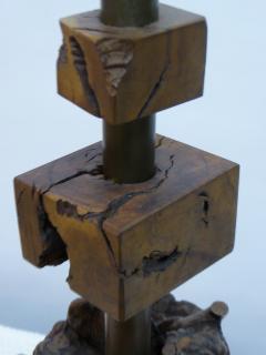 Very Organic Quince Burl Wood Table Lamp After Nakashima   155501