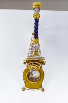 Very Rare 1880s The Harp Austrian Viennese and French Enamel Table Form Clock - 1142763