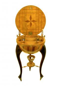 Very Rare Half Dome Biedermeier Sewing Side Table - 1682456