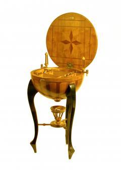 Very Rare Half Dome Biedermeier Sewing Side Table - 1682457