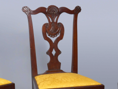 Very Rare Set Of Four Highly Carved Chippendale Mahogany Side Chairs - 1400961