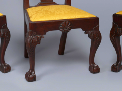 Very Rare Set Of Four Highly Carved Chippendale Mahogany Side Chairs - 1400962