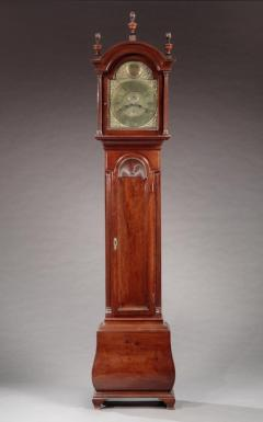 Very Rare and Possibly Unique Chippendale Bombe Tall Case Clock - 622531