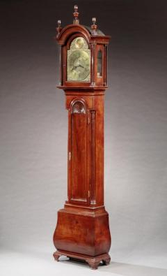 Very Rare and Possibly Unique Chippendale Bombe Tall Case Clock - 622532
