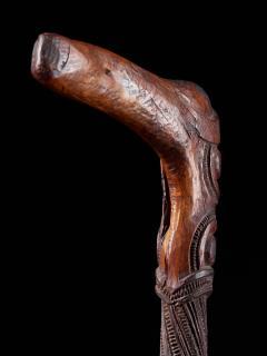 Very elegant Tokotoko carved Maori Walking or Orators stick - 2025174