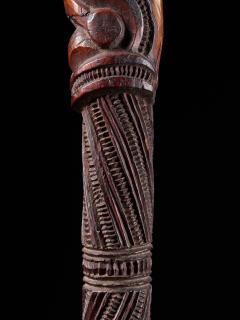 Very elegant Tokotoko carved Maori Walking or Orators stick - 2025175