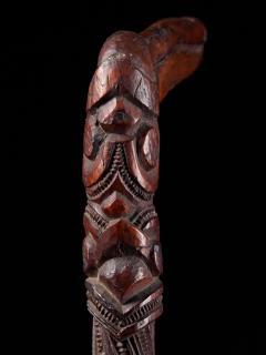 Very elegant Tokotoko carved Maori Walking or Orators stick - 2025176