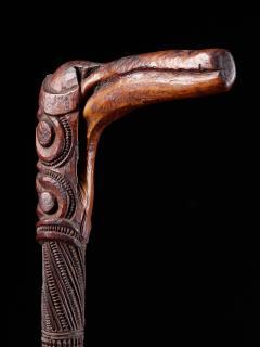 Very elegant Tokotoko carved Maori Walking or Orators stick - 2025177