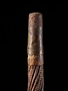 Very elegant Tokotoko carved Maori Walking or Orators stick - 2025187