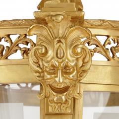 Very large Louis XV style gilt bronze lantern - 2003854