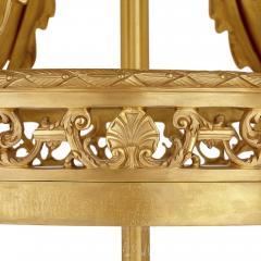 Very large Louis XV style gilt bronze lantern - 2003859