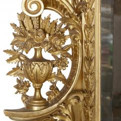 Very large antique Baroque style giltwood mirror - 1274314