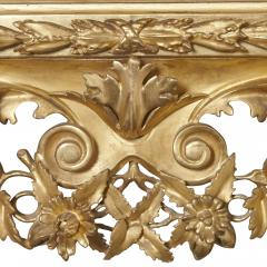 Very large antique Baroque style giltwood mirror - 1274317