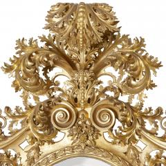 Very large antique Baroque style giltwood mirror - 1274318