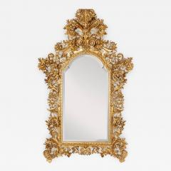 Very large antique Baroque style giltwood mirror - 1277474