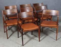Vestervig Erikson Vestervig Eriksen Put on eight chairs of rosewood 8  - 1944807