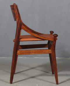 Vestervig Erikson Vestervig Eriksen Put on eight chairs of rosewood 8  - 1944856