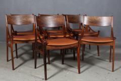 Vestervig Erikson Vestervig Eriksen Put on eight chairs of rosewood 8  - 1944861