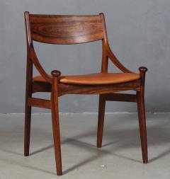 Vestervig Erikson Vestervig Eriksen Put on eight chairs of rosewood 8  - 1944871