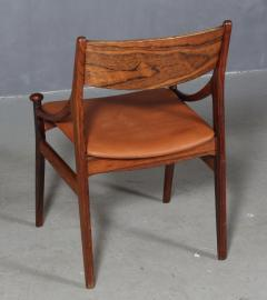 Vestervig Erikson Vestervig Eriksen Put on eight chairs of rosewood 8  - 1944880