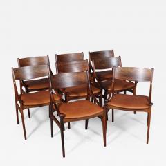 Vestervig Erikson Vestervig Eriksen Put on eight chairs of rosewood 8  - 1947224