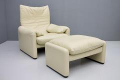 Vico Magistretti Cream White Living Room Set Maralunga by Vico Magistretti for Cassina 1973 - 1272598