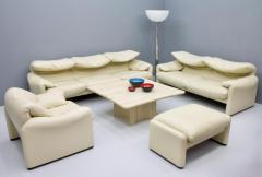 Vico Magistretti Cream White Living Room Set Maralunga by Vico Magistretti for Cassina 1973 - 1272599