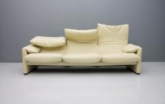 Vico Magistretti Cream White Living Room Set Maralunga by Vico Magistretti for Cassina 1973 - 1272605