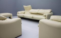 Vico Magistretti Cream White Living Room Set Maralunga by Vico Magistretti for Cassina 1973 - 1272607
