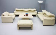Vico Magistretti Cream White Living Room Set Maralunga by Vico Magistretti for Cassina 1973 - 1272609