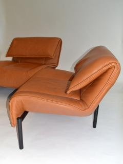 Vico Magistretti Pair of Leather Sofas by Magistretti for Cassina Italy - 1052270