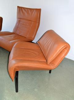 Vico Magistretti Pair of Leather Sofas by Magistretti for Cassina Italy - 1052272