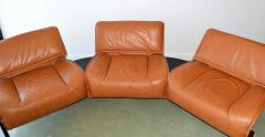 Vico Magistretti Pair of Leather Sofas by Magistretti for Cassina Italy - 1052275