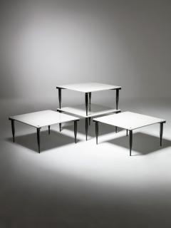 Vico Magistretti Set of Four T8 Stackable Tables by Vico Magistretti for Azucena - 2127745
